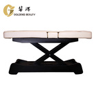 Massage Tables Massage Bed Table Beauty SPA Wooden Base 3 Function Remote Control White Facial Massage Tables Bed