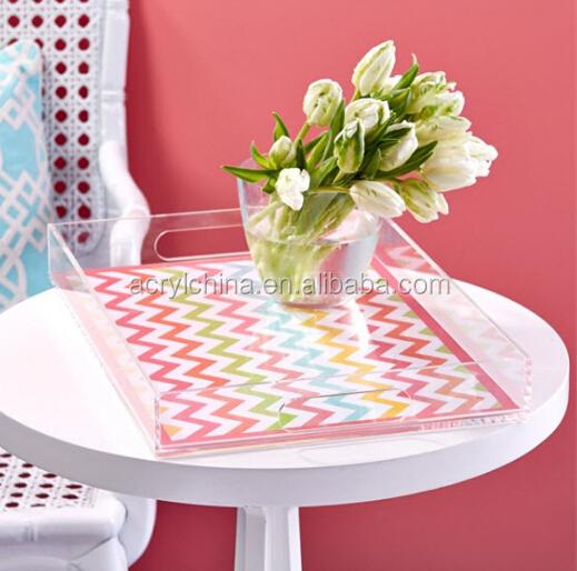 Bespoke Clear Rectangle Acrylic Vanity Tray /acrylic Tray With ...