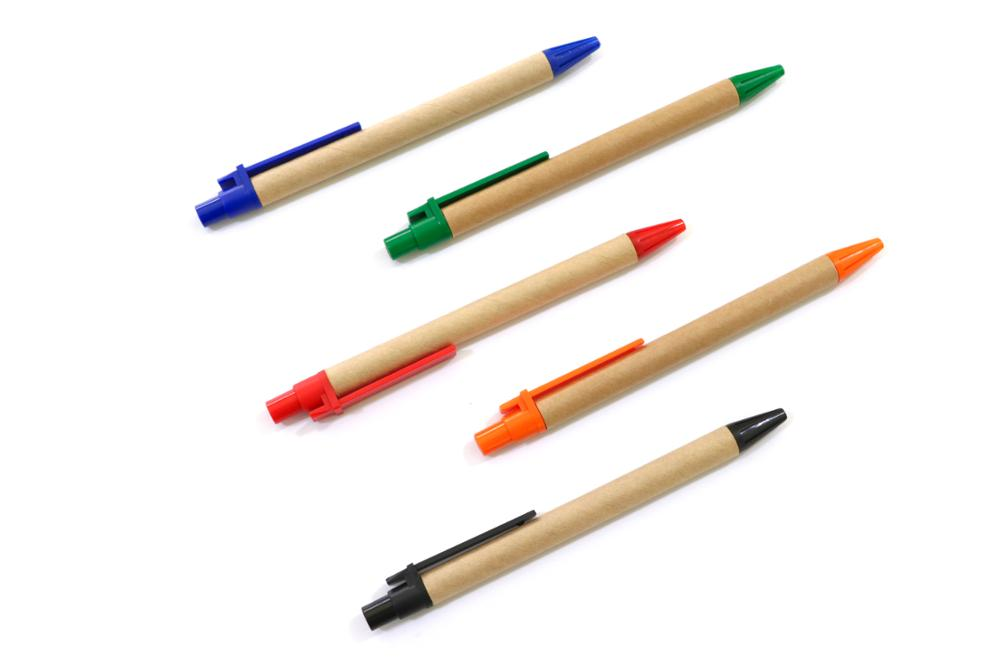 Online Selling Office School Supplies Promotional Recycled Retractable Eco Friendly Paper Pen