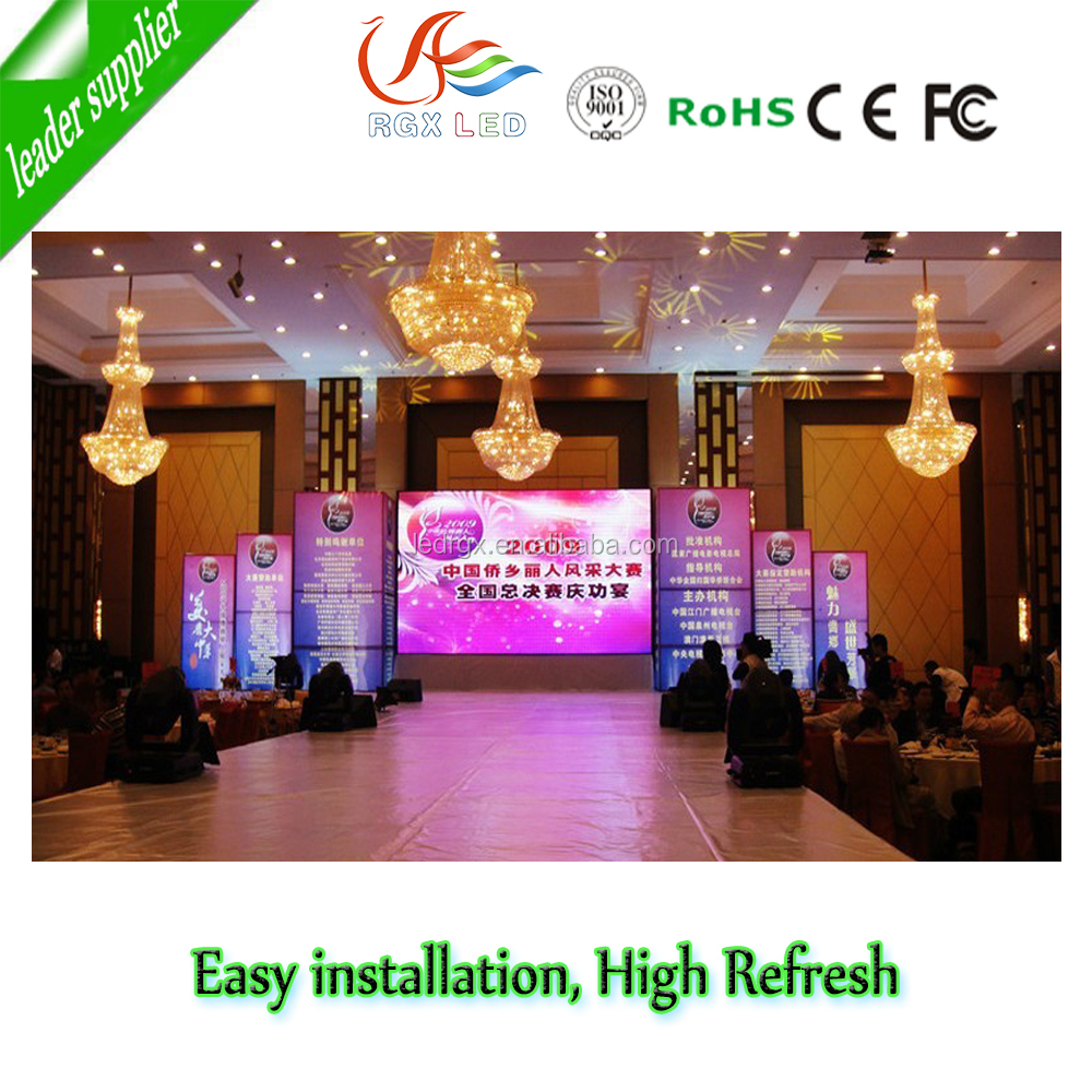 P3.91 cree/nationstar/epistar/silan/ kinglight led lamp indoor rental led display screen from Shenzhen RGX wholesaler