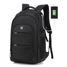 Augur Customized Wholesale Women and Men Bookbag Oxford Fabric Backpack with USB Charger