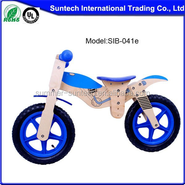 lovely kids wooden balance toy bike