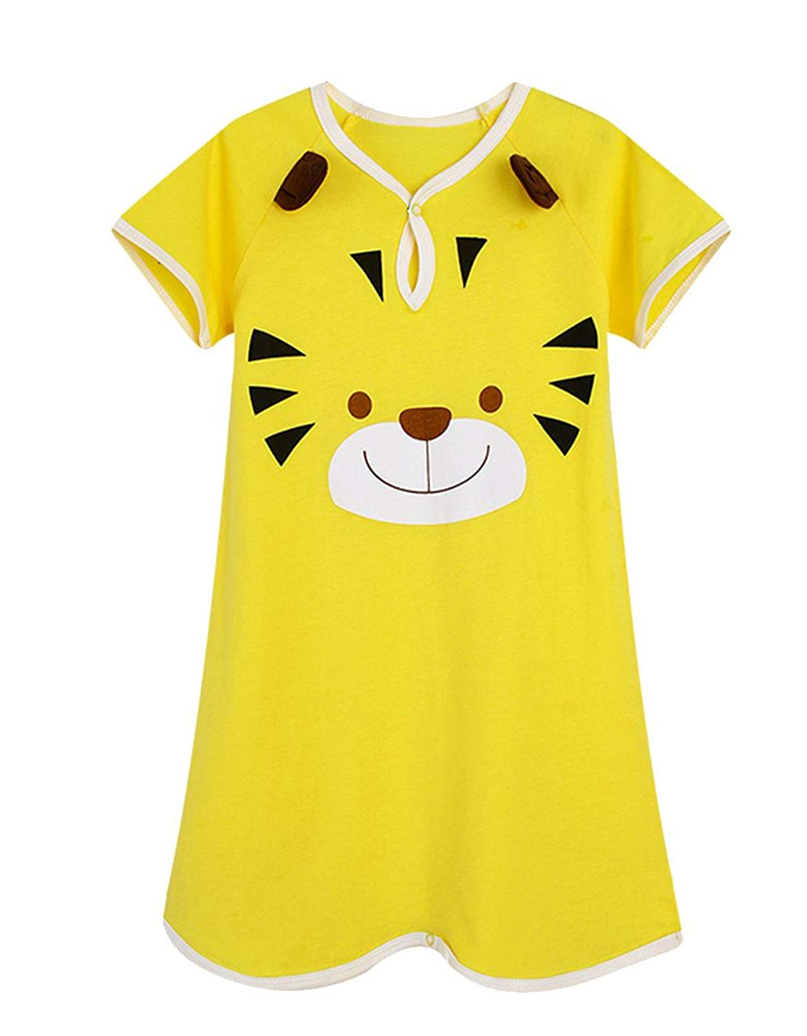 ee9ec55d2a0 Get Quotations · iDuoDuo Baby Toddler Little Kids Cute Cartoon Rompers  Summer Pajamas Nightgowns