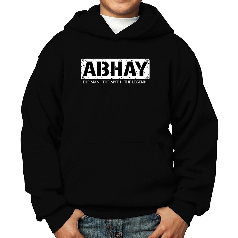 Teeburon Abhay The Man The Myth The Legend Boy Hoodie