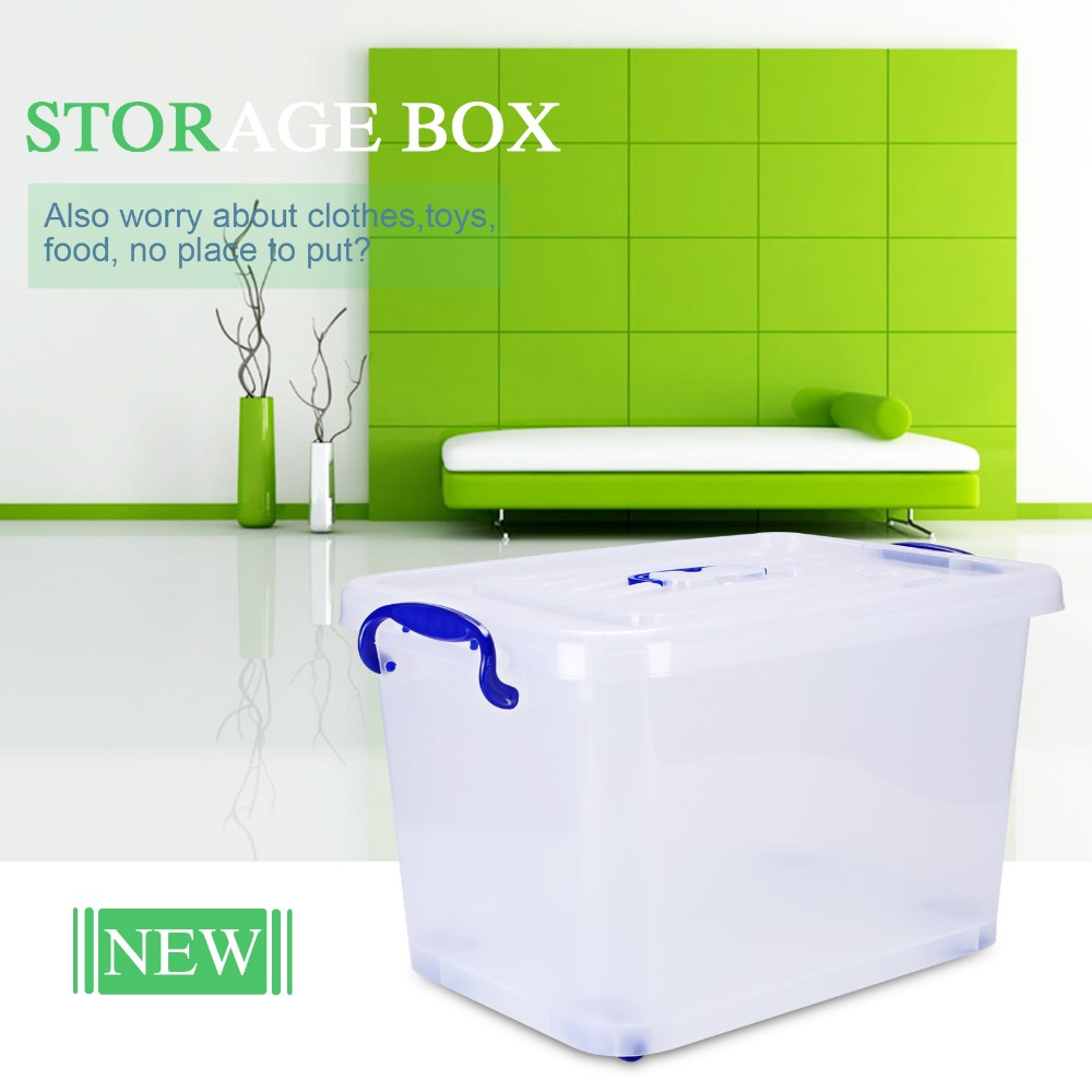 2016 ECO-Friendly PP Plastic rolling storage box with lock
