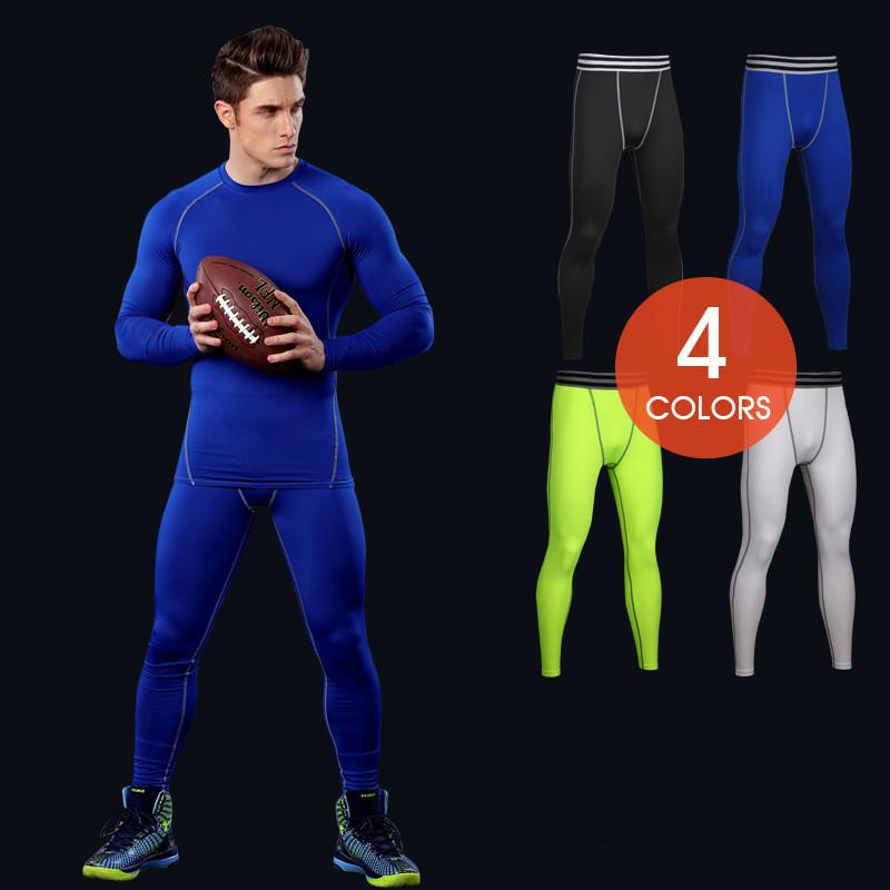 Sports Compression Running Leggings Gym Exercise Lycra Elastic Tight Leggings For Men Male 4