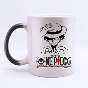 Popular Design Custom Office Cup - Japan Anime Cartoon One Piece Monkey D Luffy Painting Custom Morphing Coffee Mug Tea Cup 11 OZ Office Home Cup