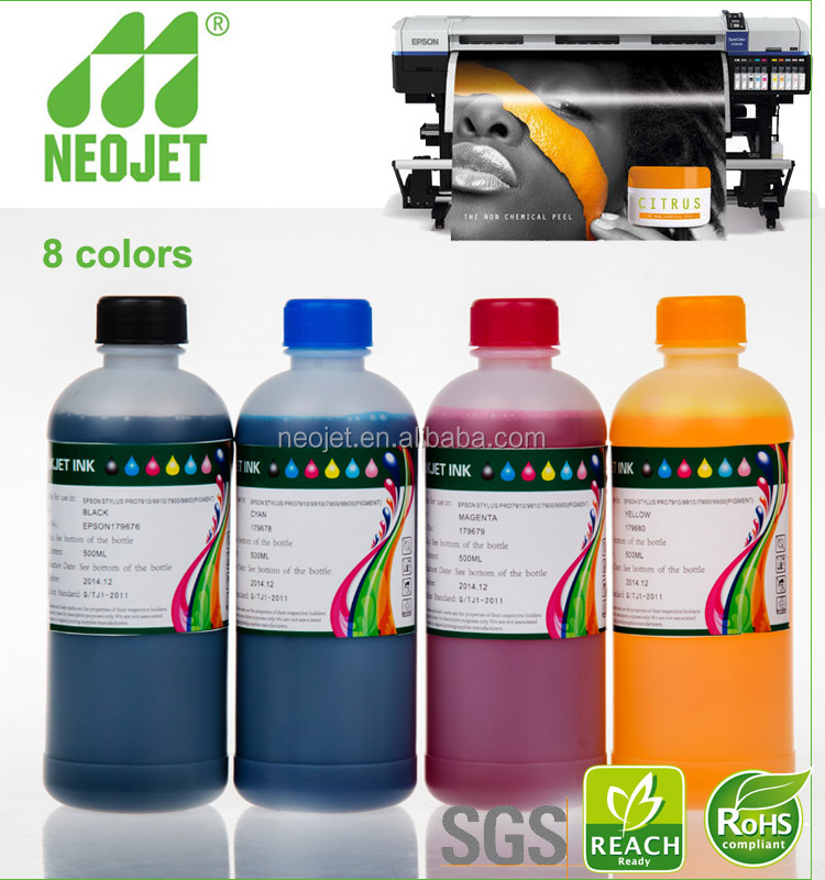 free sample water based pigment eco solvent ink for epson dx5 print head xuli x6 1880 machinery