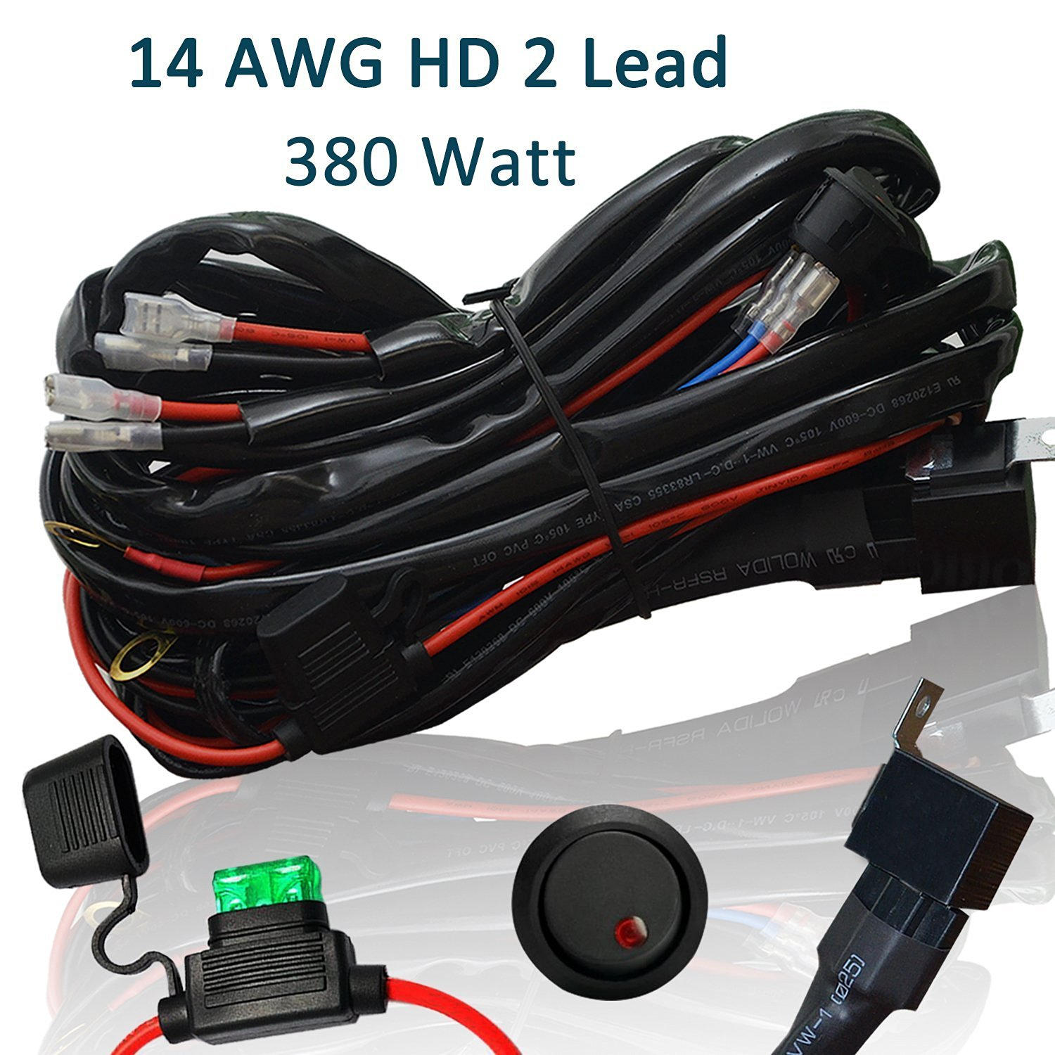 Cheap Wiring Harness Kits Find Deals On Line At Get Quotations Heavy Duty Ampper 14 Awg Waterproof Offroad Led Light Bar For