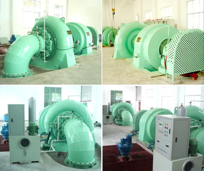 Francis Turbina with Generator 500kw 1000kw 10mw Hydropower Francis Turbine Vertical or Horizontal Type