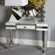 1 drawer living room furniture modern luxury mirrored console table