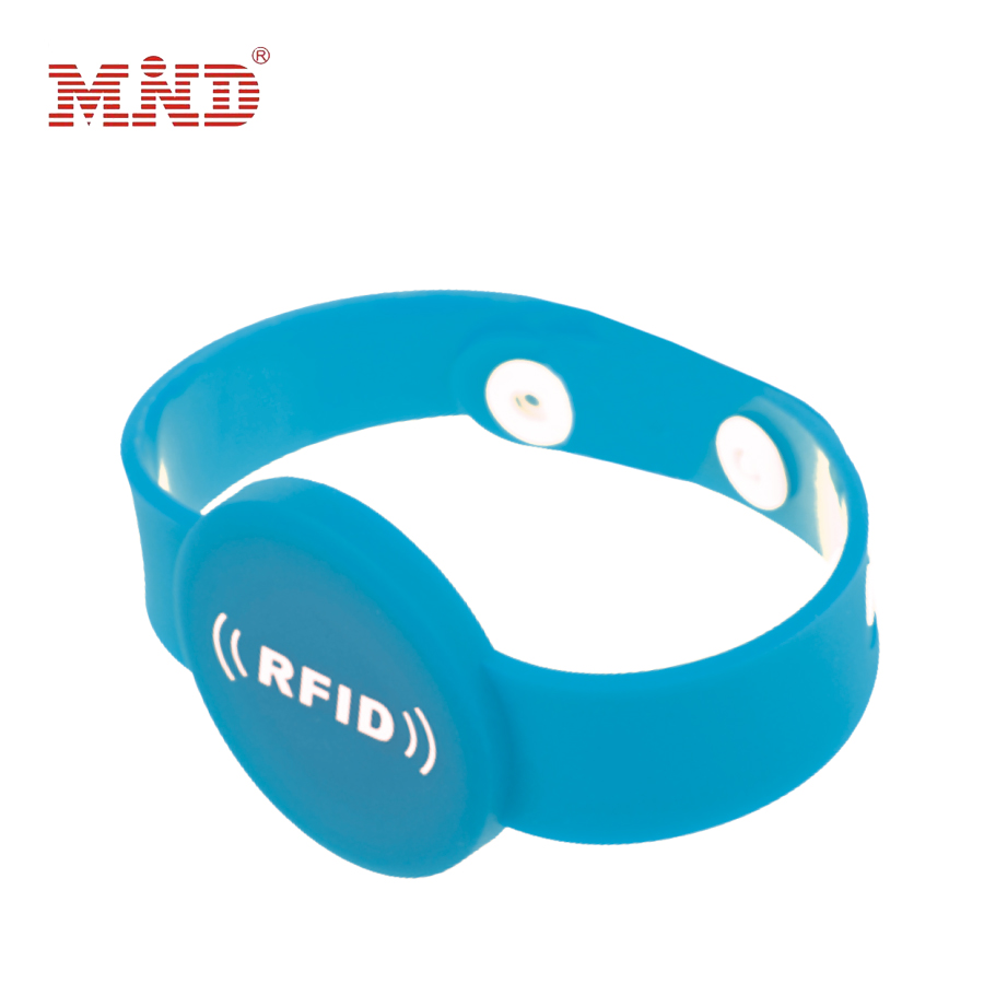 Contactless wristband rfid smart tag band 125Khz 13.56Mhz rfid