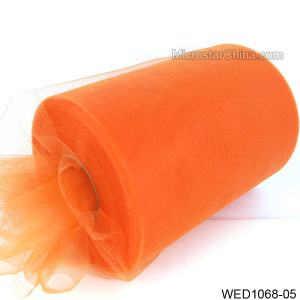 "6"" 100 Yard wholesale orange bright colored tulle"
