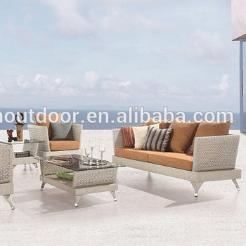 Greece Garden Furniture White Wicker