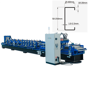 Metal Structure C Profile Purlin Roll Forming Machine For Making c shape purlin roll former prices