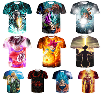 YWLL Summer Short Sleeve Cheap Dragon Ball Z T-shirt 3D Printing Dragon Ball T Shirt