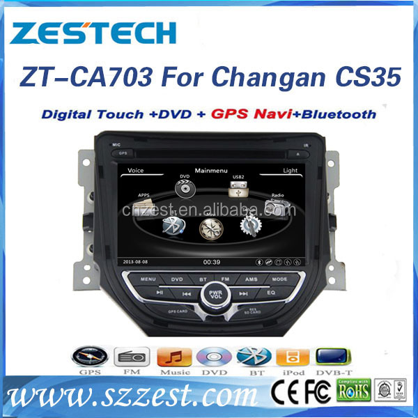 For Changan CS35 car Accessories support 3G BT DVB-T MP3 MP4 HDMI USB GPS DVD function