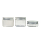 China factory wholesale 30g 50g 100g 150g 200g 250g clear PET plastic cream jar with aluminum screw cap