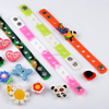 Adjustable kids silicone wristbands with Custom PVC charms