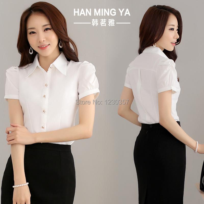 Летняя одежда женские блузки дамы платье юбка офис леди рубашка с короткими рукавами комбинезоны лето рабочая одежда сексуальное платье