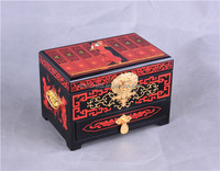 Red chinese lacquer Jewelry boxes/wedding /chinese style/Decoration