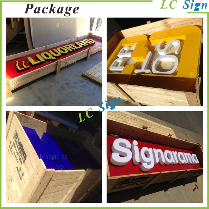 Acrylic led Shop letter signs, company name letter
