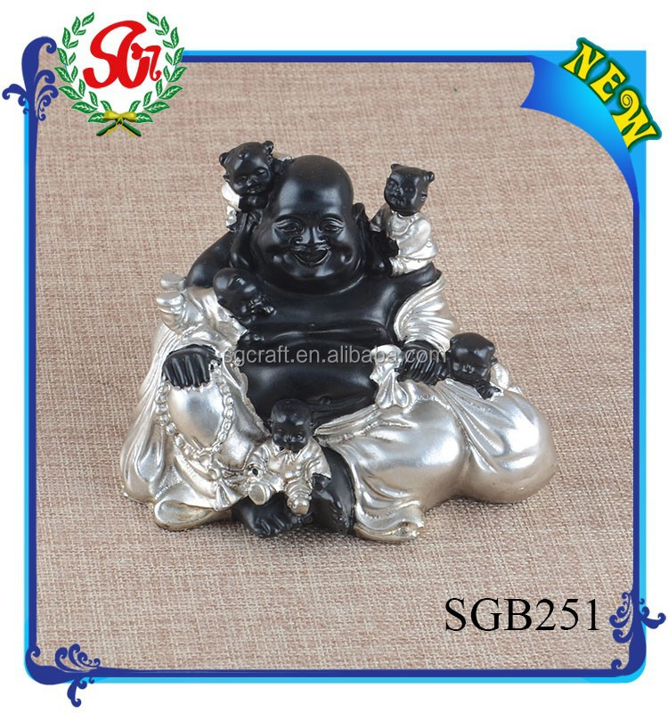 SGB251 Good Sale Large Sitiing Buddha With Small Statues