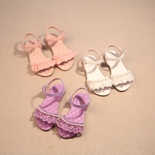 2016 Summer New Fashion Girls Shoes Sandals Open Toed Shoes Lace Princess Baby Girls Shoes Fish