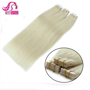 Top Quality Aliexpress UK Talk Supper Seamless 28 Double Side Virgin Human Peruvian Remy Tape Hair