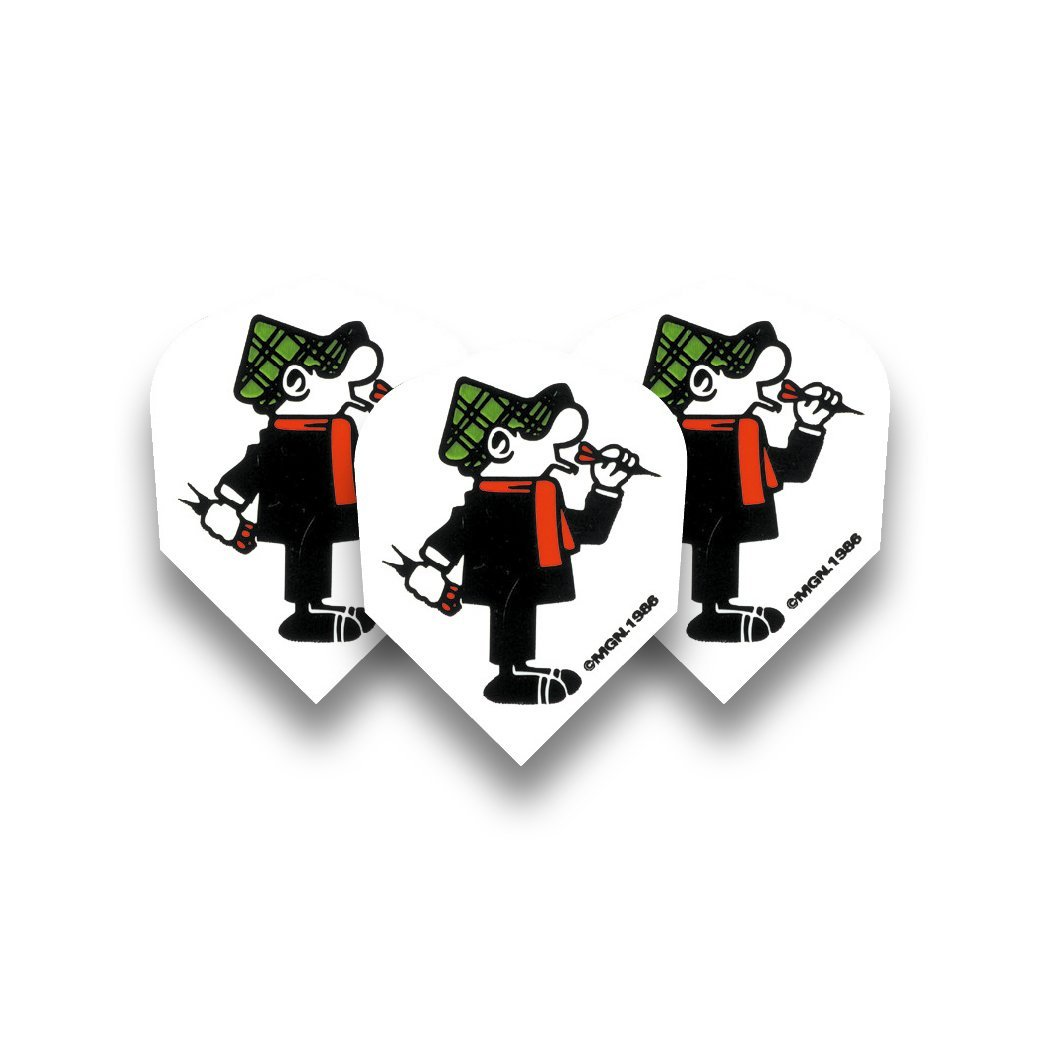 Andy Capp Standard Dart Flights - 5 sets per pack (15 flights in total) & Red Dragon Checkout Card