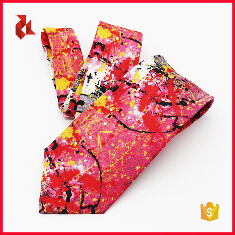Fashion Colorful Digital Print Ties Mens Printed Necktie Factory