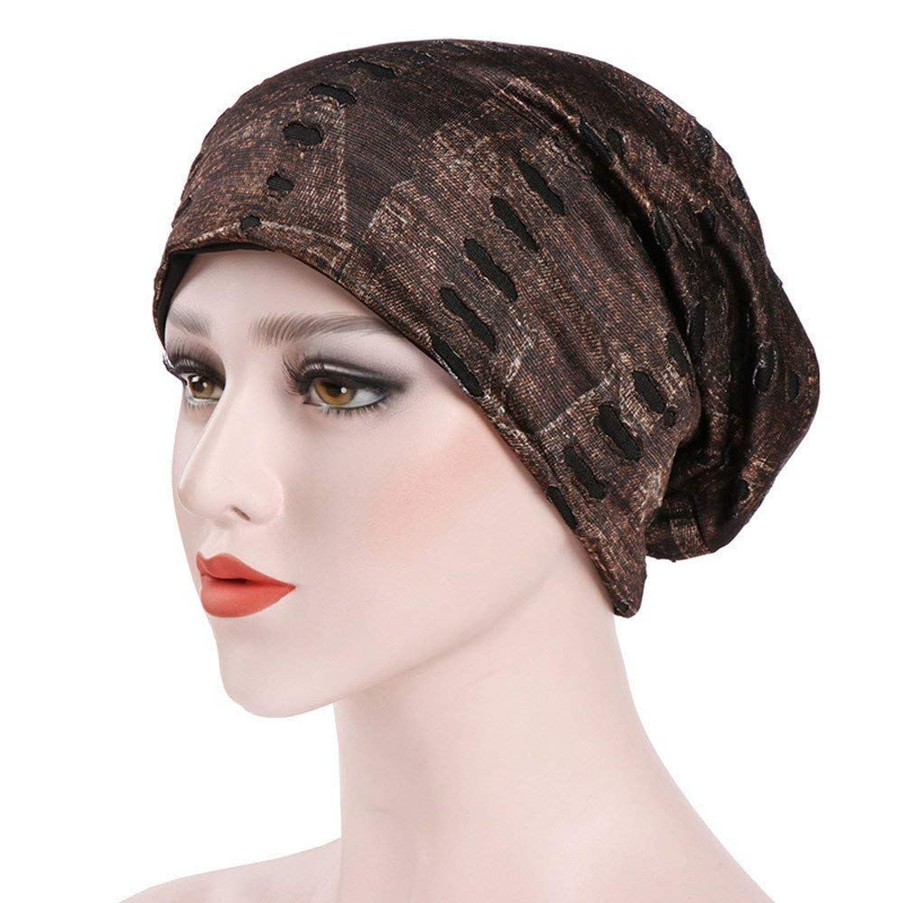 Get Quotations · Smdoxi Women Head Wrap Muslim Chemo Turban Ruffle Mesh  Headband Beanie Cap Scarf for Cancer Patient e1c12adfd386