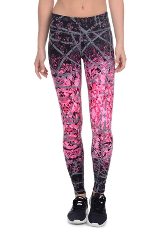 9d3a4e06c3 Get Quotations · Danskin Womens Supplex CoolMax Active Stretch Printed  Ankle Legging Yoga Pants (Medium, Camellia Pink