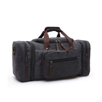 Newest canvas travel duffel bags cotton canvas luggage bag