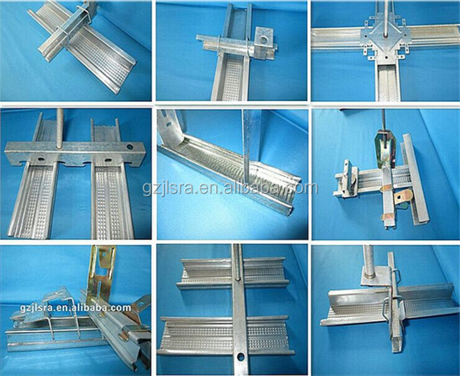 GOOD sell price Gypsum galvanized drywall metal studs tracks partition system /suspended ceiling frame /interior decoration .