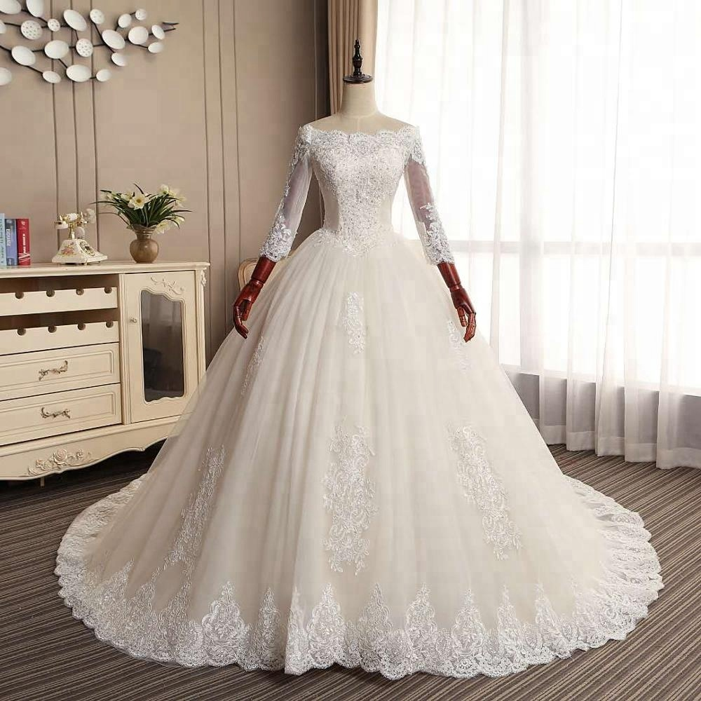 a0602efb76fd5 مصادر شركات تصنيع فساتين الزفاف كم طويل وفساتين الزفاف كم طويل في  Alibaba.com