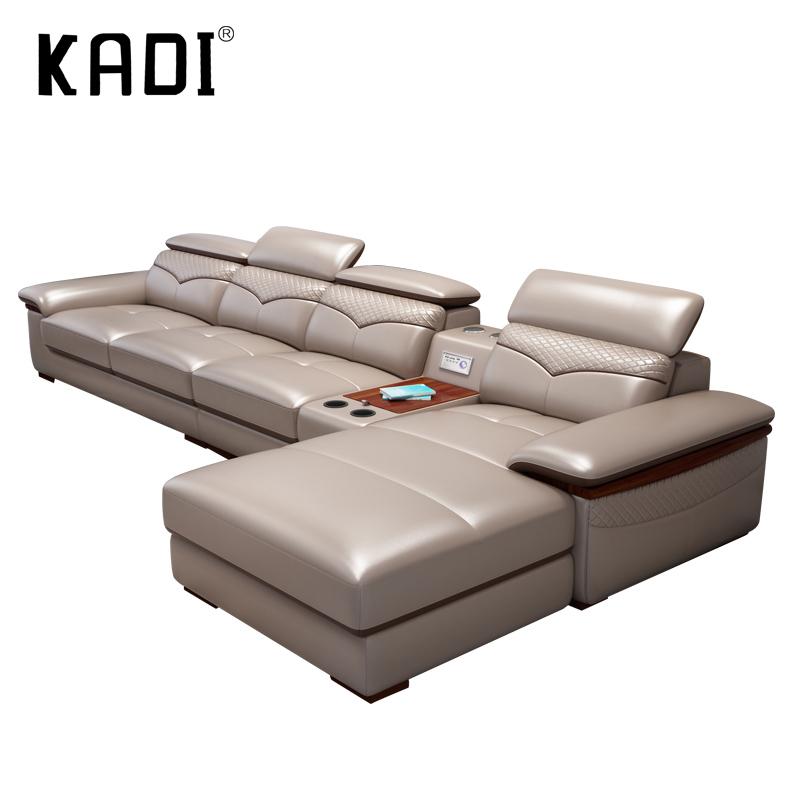 Muebles de sala en forma de l de cuero sintético conjunto de sofá