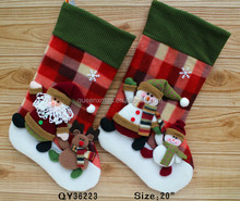 Red animal Felt Christmas Stockings