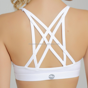 OEM Wholesale Nylon Cotton Seyx Sports Bra Women Custom Yoga Fitness Ladies Stock Sports Bra