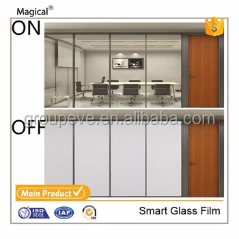 Window Glass Projection Visual Angle Switchable Magic Glass film