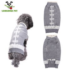 2017 New Styles Dog Gray Winter Clothes With Butterfly Tie For Pet Puppy
