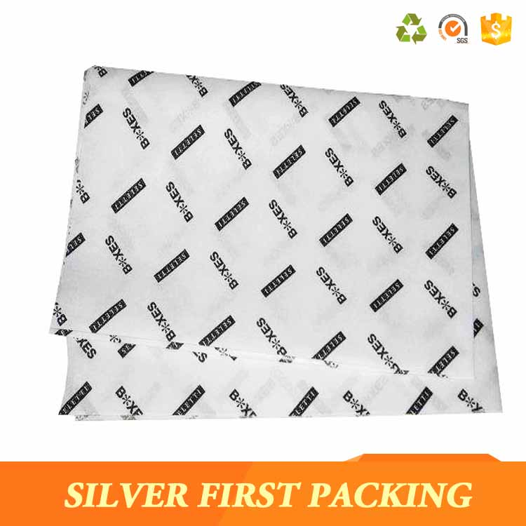 Eco friendly custom logo gift wrapping tissue paper for packing clothes