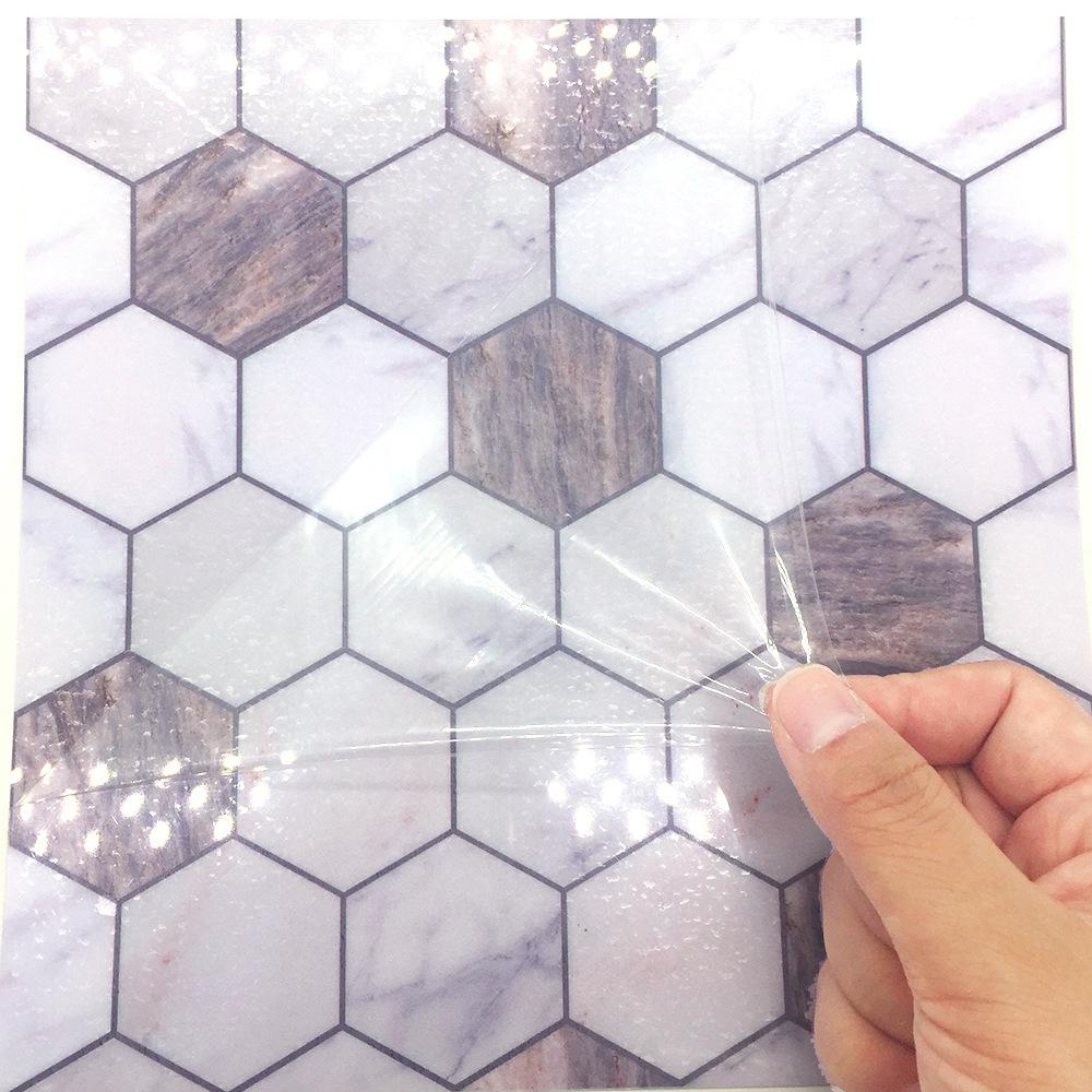 - Funlife Adhesive Wall Tile Backsplash Sticker,PVC Faux Marble