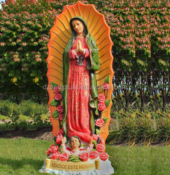 Fiberglass Holy Virgin Mary Statue For Garden Decoration