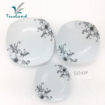 Ceramic Tableware Islamic Plain White Ceramic Dessert Plate