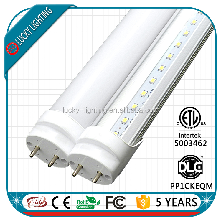 DLC ETL UL listed 4ft CRI 90 CRI 80 dimmable one end power t8 tube led