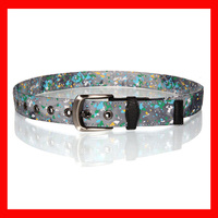camo custom printed fabric eyelets fashion belt