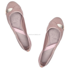 Customized Light Weight cheap Foldable Ballerine women shoes