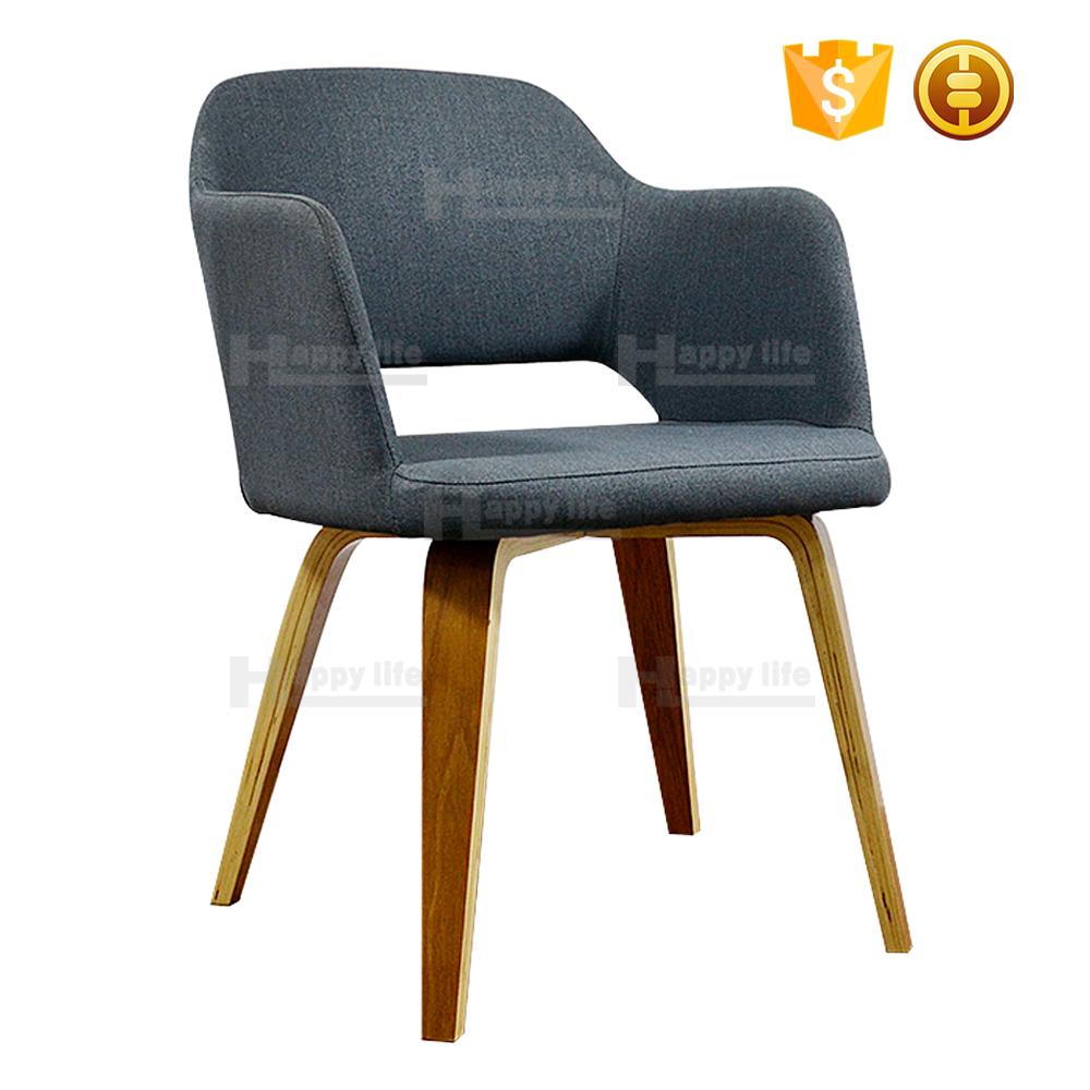 Restaurant Designer Fabric Wooden Modern Dining Chairs - Buy