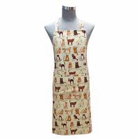 Customized top quality printing cats kitchen apron